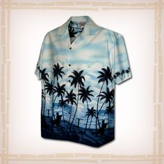 """FREE SHIPPING – EVERY ORDER, EVERY DAY! Hawaiian Shirt """"Surfers Paradise"""" By Pacific Legend – Blue  Coconut shell buttons and matching print engineered chest pocket. This Pacific Legend Hawaiian Shirt Garment is 100% Cotton and MADE IN HAWAII. http://hawaiianshirtdude.com/product/hawaiian-shirt-surfers-paradise-pacific-legend-blue/"""