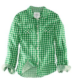 H&M Checked Green Shirt