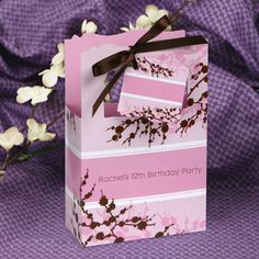 LOT OF 12 CHERRY BLOSSOM GIFT BABYSHOWER BRIDAL PILLOW BOXES