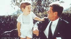 'Warm': JFK and his son John Jr in 1960. Jackie described him as lying around on the floor to play with his children, despite descriptions o...