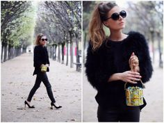 The beautiful Audrey from BeFrassy in the OTR Feather Jacket
