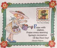 Praise With Elation-Handmade Fridge Magnet-Mary Engelbreit Artwork