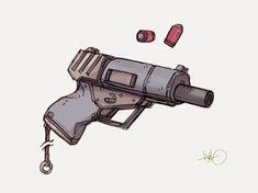 Sci Fi Weapons, Weapon Concept Art, Weapons Guns, Fantasy Weapons, Survival Rifle, Gun Art, Cyberpunk Art, Mechanical Design, Cool Guns