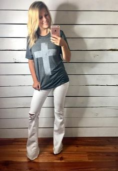 Vintage Cross Tee- 2018 Spring Fashion Trends
