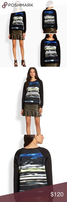Sachin and Babi Aurora Borealis Sweatshirt Size M This is an amazing and cool Sachin and Babi ( Anthropology brand) Sweatshirt that can update and make you wardrobe look younger, as you can pair it with anything. Gently used but in amazing condition. Size 8. Fits size 4-8. Used to sell for 395$. Love it. Anthropologie Sweaters