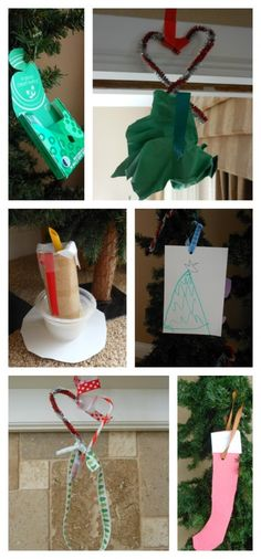home made Christmas decorations...ornament making station :)