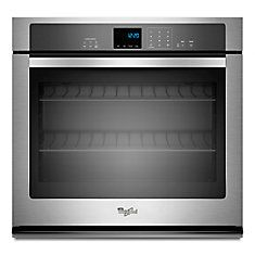 4.3 cu. ft. Single Wall Oven with SteamClean Option in Stainless Steel