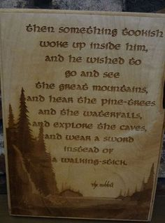 Something Tookish The Hobbit Tolkien Quote by HeatherwoodCrafts, $12.00