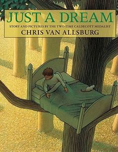 Just a Dream by Chris Van Allsburg is written to show what could happen if we don't take care of the Earth, but his illustrations and words are brilliantly orchestrated to make kids really think. Great for SYNTHESIZING Importance Of Time Management, Dream Book, Comprehension Strategies, This Is A Book, Happy Earth, Just Dream, Cause And Effect, Children's Book Illustration, Book Illustrations