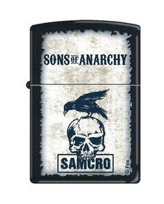 Zippo Lighter - Sons of Anarchy SAMCRO with Crow Black Matte - $29.95. Free Shipping. No Minimum. 24/7