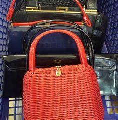 Vintage bag bonanza this morning. Gotta get them home and listed. . . . #thriftstorefinds #vintagehandbags #ebayseller #vintagefashion #wheretheresonetheresmore