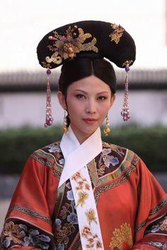 China. Qing Dynasty. Costume drama Zhen Huan Zhuan, Huang Hou/ Empress costume.