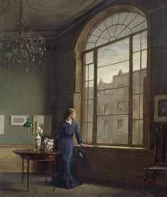 """A window in London Street"" (1901) By Sir William Orpen, KBE, RA, RHA, from County Dublin, Ireland (1878 - 1931) - oil on canvas; 103 x 87 cm - © The National Gallery of Ireland, Dublin Presented, 1970 http://www.nationalgallery.ie/ https://www.facebook.com/NationalGalleryofIreland"
