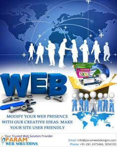 Modify your ‪#‎web‬ presence with our creative ideas and make your ‪#‎website‬ more interactive and user-friendly http://www.paramwebs.com