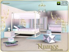 pastel colors and sweet atmosphere , here the bedroom nuance.  Found in TSR Category 'Sims 3 Adult Bedroom Sets'