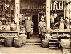 CHINATOWN: Chinese owned and operated grocery store, 1904