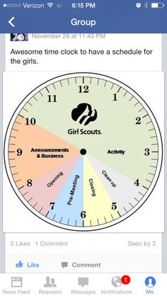 Meeting Time Schedule - For the Organized Girl Scout Troop Leader Scout Mom, Girl Scout Swap, Daisy Girl Scouts, Girl Scout Leader, Girl Scout Troop, Boy Scouts, Brownie Girl Scouts, Girl Scout Cookies, Girl Scout Badges