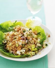 Bulgur Salad with Feta and Pine Nuts - my word this looks good!