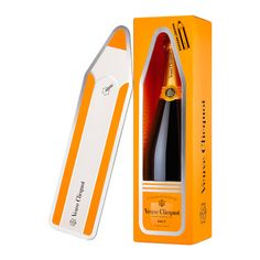 Veuve Clicquot Yellow Label Brut with Message Magnet , Veuve Clicquot, What Is Today, Bottle Sizes, Messages, Sparkling Wine, Summer Fruit, Croissants, Pinot Noir, Wine Making