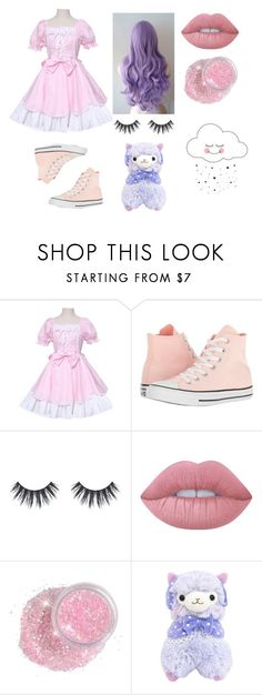 """""""My Profile Photo"""" by black-metal ❤ liked on Polyvore featuring Converse and Lime Crime"""