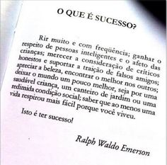 O que é sucesso? Video Clips, Ralph Waldo Emerson, Whatsapp Message, Good Energy, Positive Thoughts, Wise Words, Reflection, Positivity, Messages