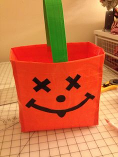 The essential Halloween Costume accessory: Duct tape treat bag! #Halloween #Costumes