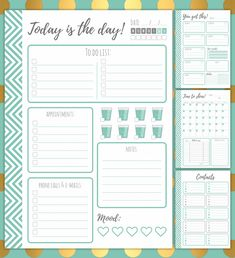 Time to get organized - get your free planner templates! – Witty Mind Design Wedding Checklist Printable, Daily Planner Printable, Free Planner, Planner Pages, Weekly Planner, Happy Planner, List Template, Planner Template, Templates