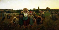 La retirada de las espigadoras, 1859 Jules Breton
