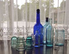 Blue Glass <3 - I have a couple of glass insulators, too!