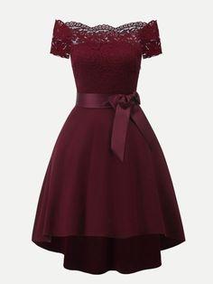 62 Mejores Imágenes De Vestidos Color Vino En 2019