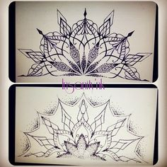 Tattoo Sketch, Petit Tattoo, Mandala Tattoo, Hennas, Motifs, Instagram, Decor, Tatoo, Mandalas