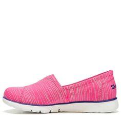Skechers Kids' Pure Flex Memory Foam Slip On Sneaker Pre/Grade School Shoes (Pink Multi) - 13.0 M