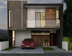[New] The 10 Best Home Decor Today (with Pictures) Modern House Facades, Modern House Design, Modern Architecture, Lofts, Philippines House Design, Philippine Houses, Duplex House Plans, House Elevation, Facade House