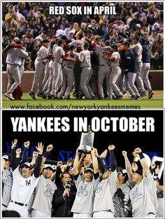 They can enjoy the early victories, it won't matter in the end! Yankees Baby, Damn Yankees, New York Yankees Baseball, Fanart, Derek Jeter, Love And Respect, Baseball Field, Celebrities, Sports