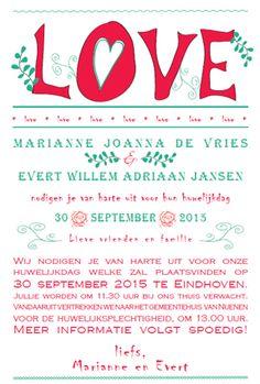 Weddingcard 'love' by ViolArt