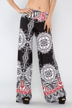 Ladies wide leg black pants by Screenprinted on Etsy, $30.00