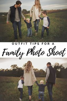 PIN THIS!! family photo shoot fashion - outfit ideas for a Fall family photo