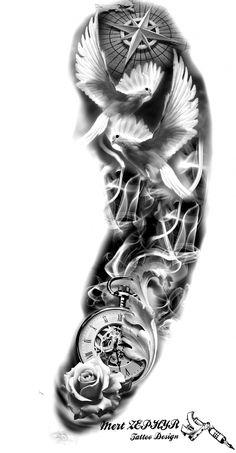 Tattoo Design by mertzephyr - Christmas Design - Tattoo Design by mertzephyr -. - Tattoo Design by mertzephyr – Christmas Design – Tattoo Design by mertzephyr – - Tribal Chest Tattoos, Forearm Sleeve Tattoos, Full Sleeve Tattoos, Tattoo Sleeve Designs, Tattoo Designs Men, Clock Tattoo Sleeve, Paisley Tattoos, Designs Mehndi, Clock Tattoo Design