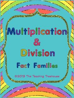 Multiplication & Division: Fact Families Worksheet - 3rd-4th grade - Free