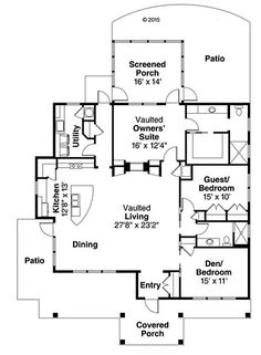 Bungalow Cottage Craftsman Level One of Plan 41225