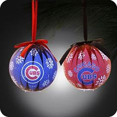 Get this Chicago Cubs 6-Piece LED Boxed Ornament Set at WrigleyvilleSports.com