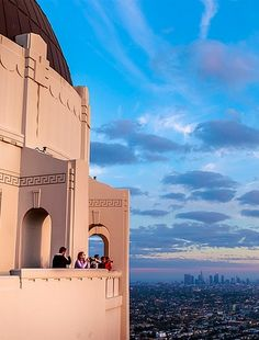 A wonderful view of LA from the Griffith Observatory