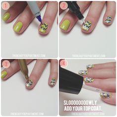 """""""The Run Down"""" nail art tutorial."""