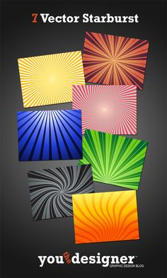 7 Vector Starbursts // #free #graphicDesign #background