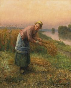 monsieurleprince:    Daniel Ridgway Knight (1839 - 1924) - The gleaner