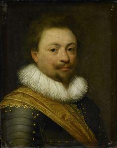 Portret van Willem (1592-1642), graaf van Nassau-Siegen, workshop of Jan Antonisz. van Ravesteyn, ca. 1620 - ca. 1630