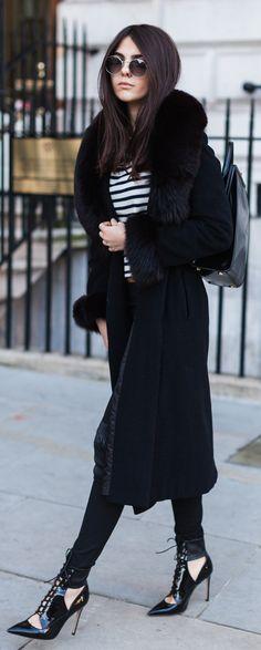 Winter Essentials: The Long Fur Coat | TOPISTA