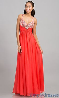 Full Length Sweetheart Evening Gown at SimplyDresses.com