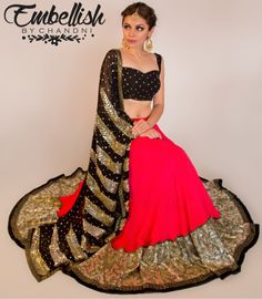Embellish by Chandni Info & Review | Bridal Wear in Delhi NCR | Wedmegood | lehnga | coral and black