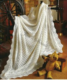 Babies 3 ply Square Lace Shawl Knitting by knittingpatterns4you, £2.00